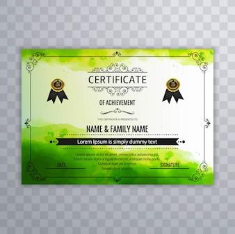 Shiny green diploma template