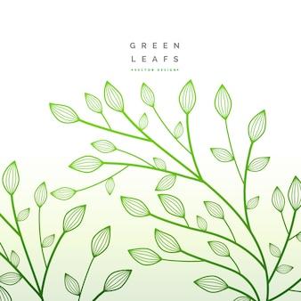 Shiny green leaves design
