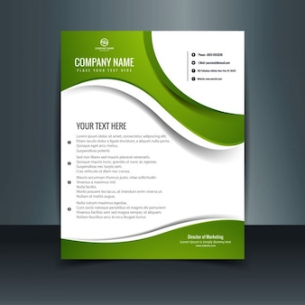 Shiny green letterhead