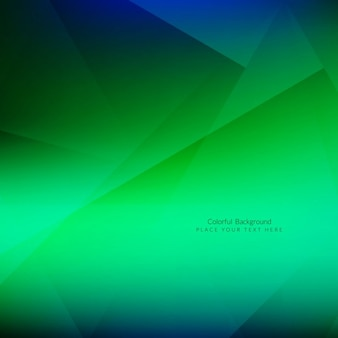 Shiny green polygonal background