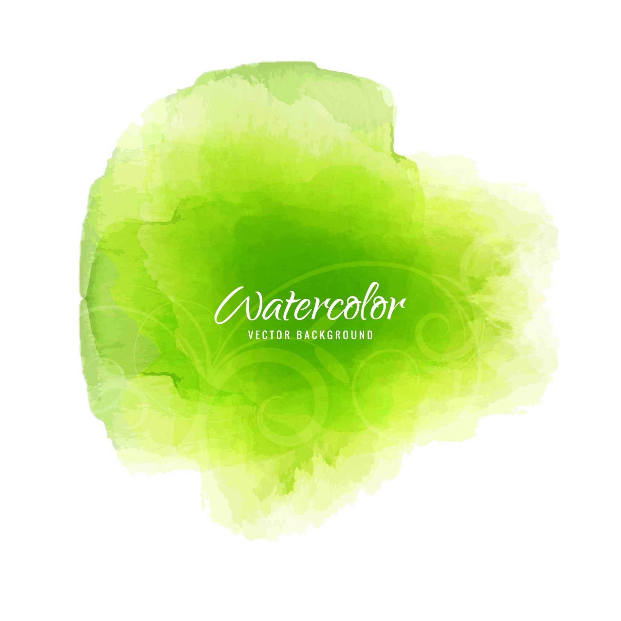 Shiny green watercolor background