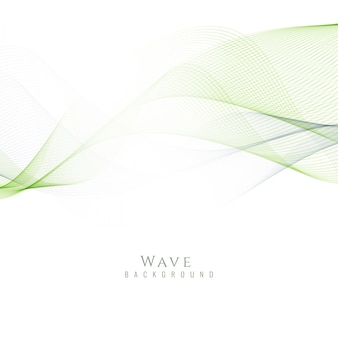 Shiny green wavy background
