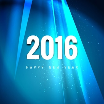 Shiny greeting card of new year 2016