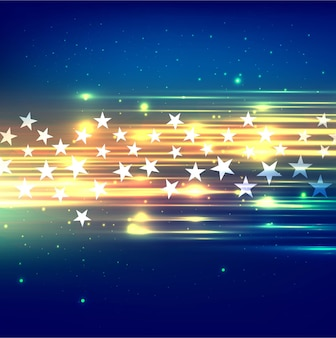 Shiny lights background with stars