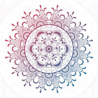 Shiny mandala design