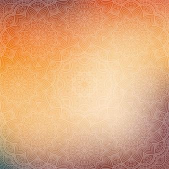 Shiny mandala pattern design