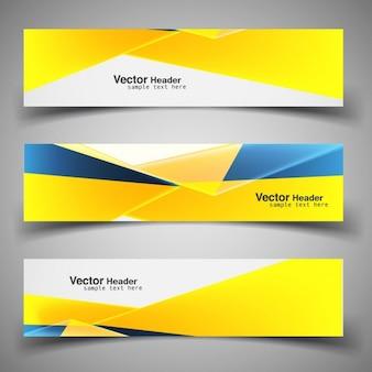 Shiny modern yellow headers