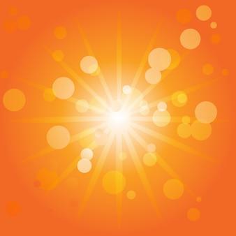 Shiny orange bokeh background design