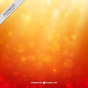 Shiny orange bokeh background