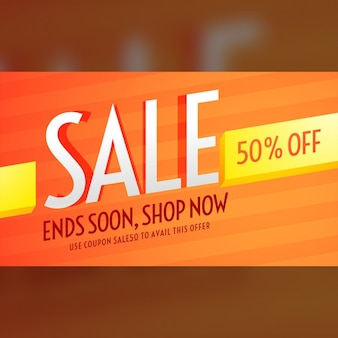 Shiny orange discount voucher