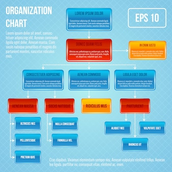 Shiny organization chart template