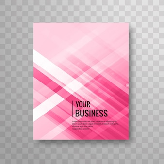 Shiny pink business brochure design