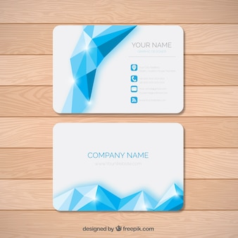 Shiny polygonal business card