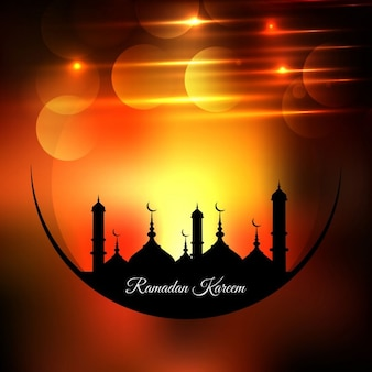 Shiny ramadan background