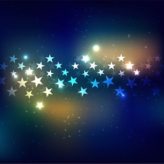 モダンカラフルな星の背景