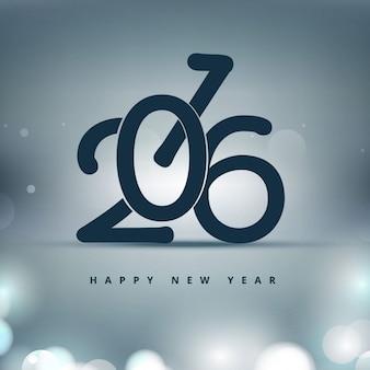 Shiny stylish new year 2016 background