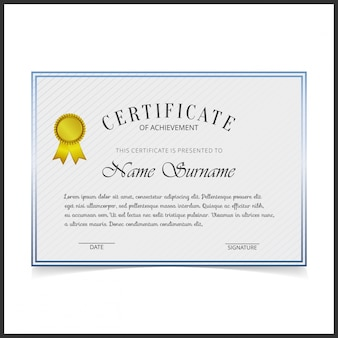 Shiny white certificate template
