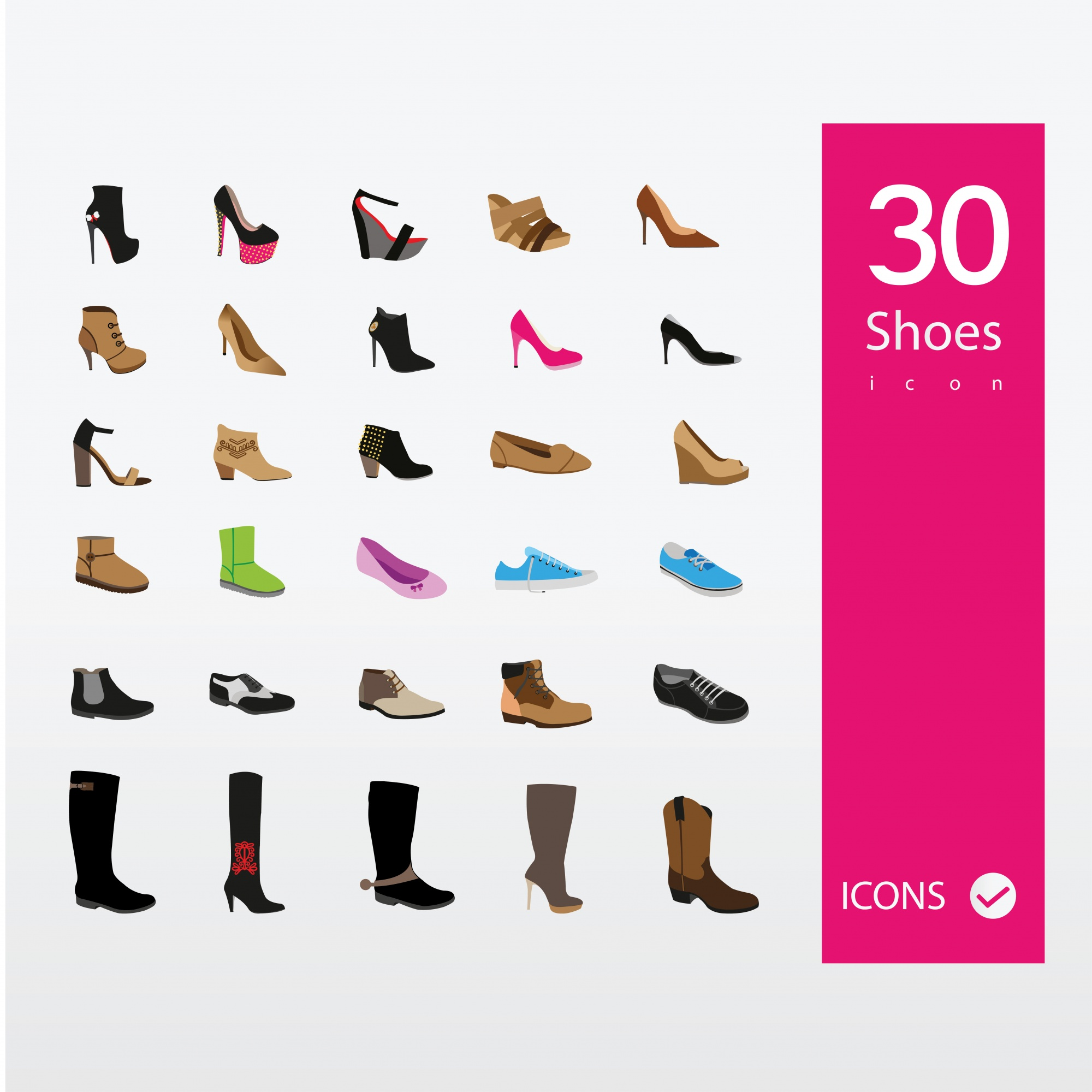 Shoe icons collection