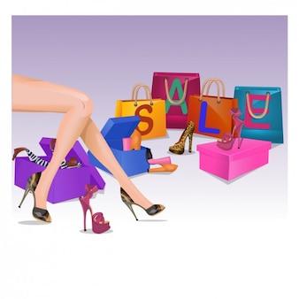 Shoe Sale Illustration