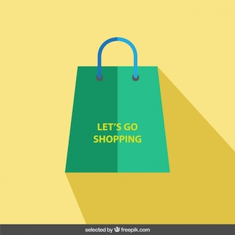 Shopping bag in flat design