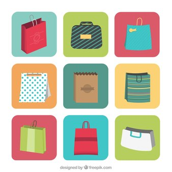 Shopping bag labels
