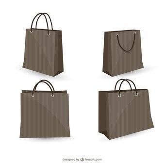 Shopping bags free vector set
