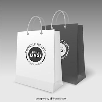 ショッピングバッグモックアップ