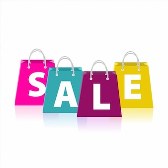 Shopping Bags Sale Background