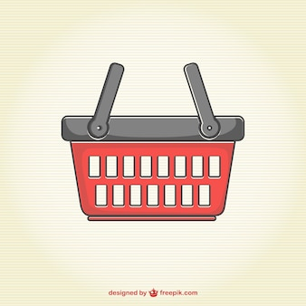 Shopping basket in red