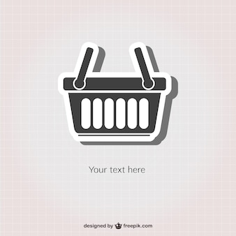 Shopping basket sticker icon