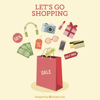 Shopping promotional design