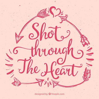 Shot through the heart background