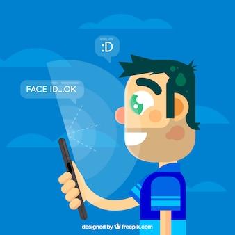 Дизайн лицевой стороны боковой стороны