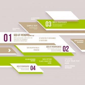Sign element art infographic banner