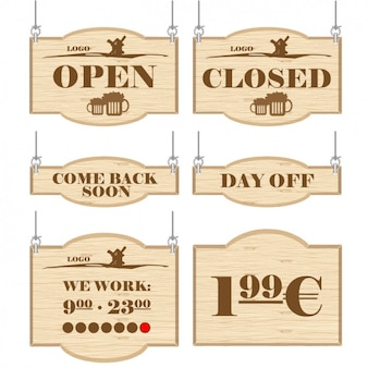 Signs for commercial establishments