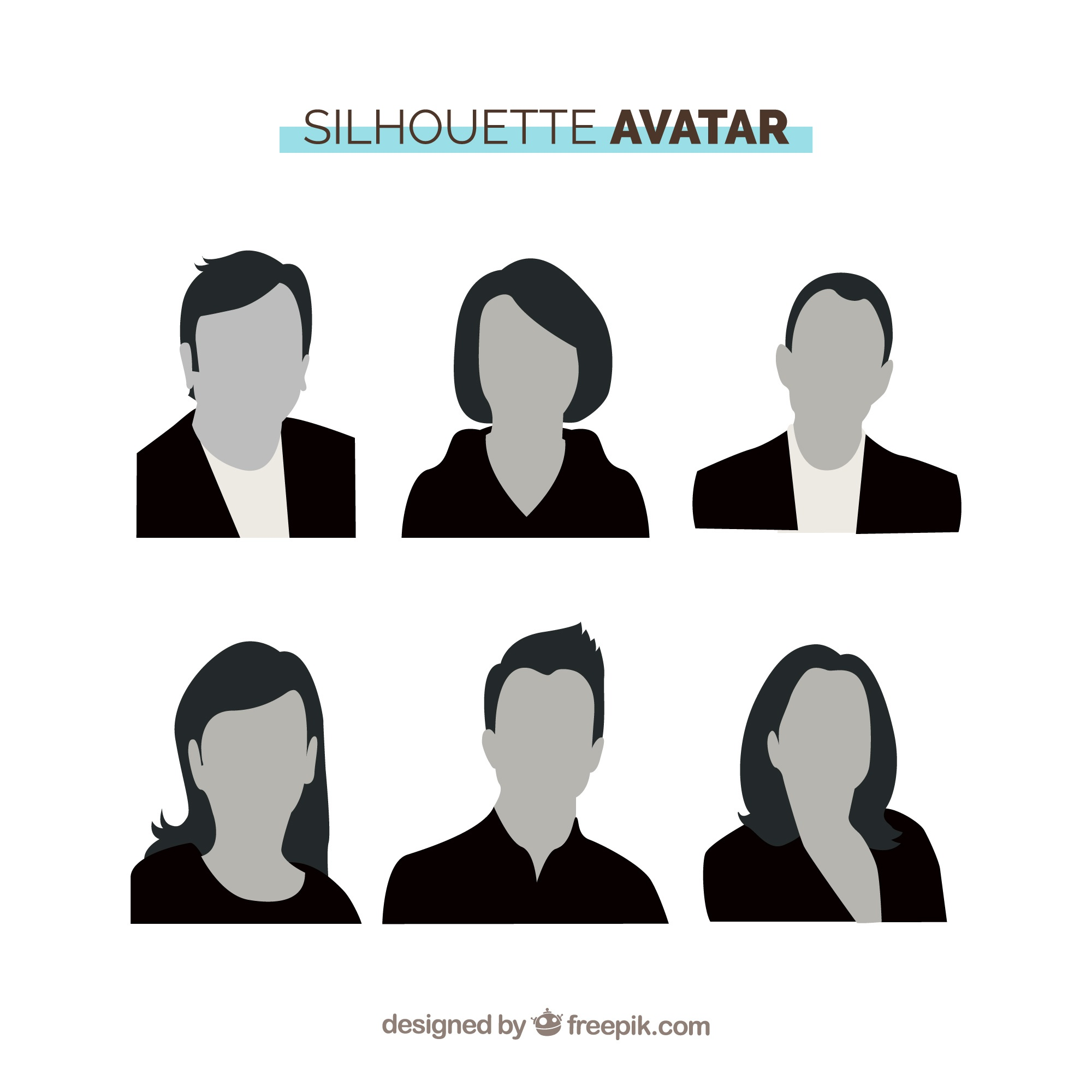 Silhouette avatars with professional style