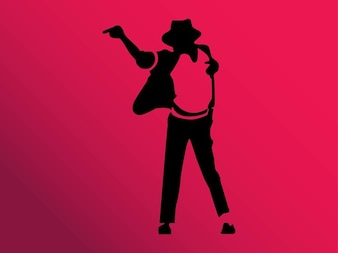 silhouette of a michael jackson