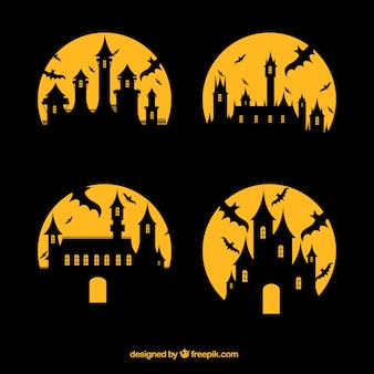 Silhouettes of enchanted castles