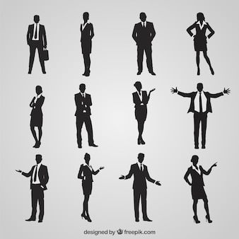 Silhouettes of entrepreneurs