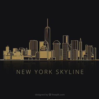 Silhouettes of new york city