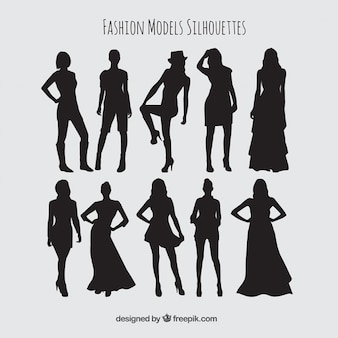 silhouettes pack of stylish models