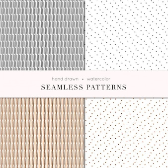 Silver and bronze watercolor patterns