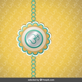 Silver and golden Rakhi background