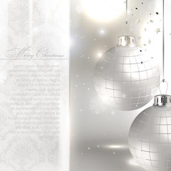 Silver backdrop xmas pattern christmas