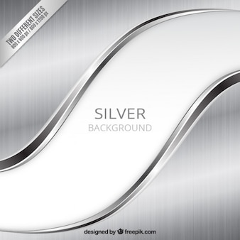 Silver background in wavy style