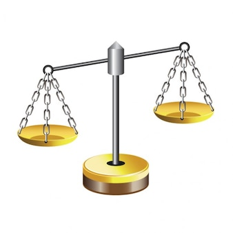 Silver balancing scales vector illustration