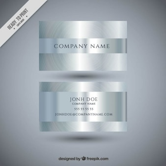 Silver bright business card