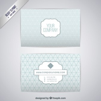 Silver Business Card Template