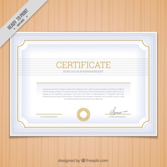 Silver color certificate