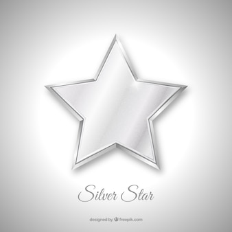 Silver isolated star